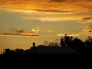 golden clouds sunset