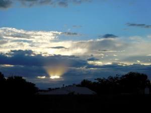 sun's ray sunset