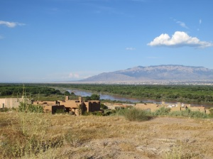 The Rio Grande and the Sandia Mountain
