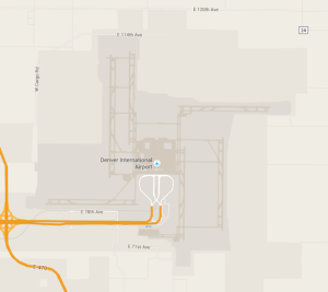 The airport's runways look like a swastika