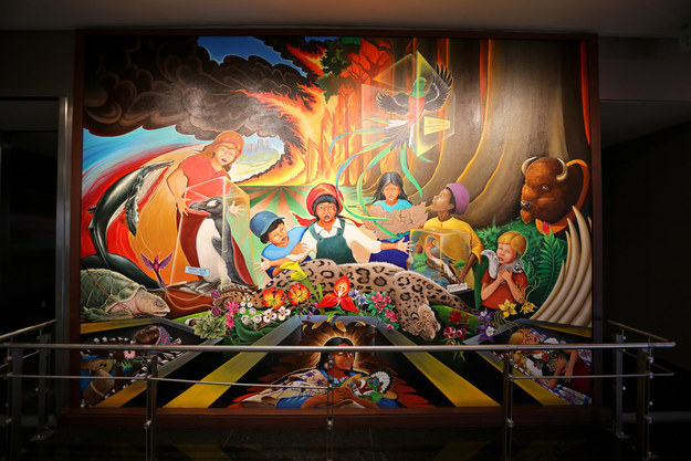 Conspiracy culture the denver international airport for Denver mural conspiracy