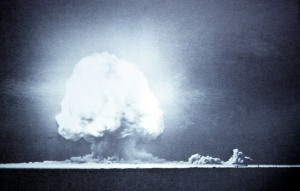 The first atomic explosion, July 16, 1945, Trinity Site, New Mexico; July 1945