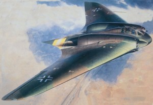 Flying wing artist's rendition
